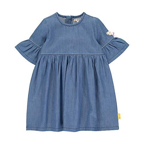Steiff Mädchen Jeanskleid Kleid, Blau (Colony Blue 6052), 86 (Herstellergröße: 086)