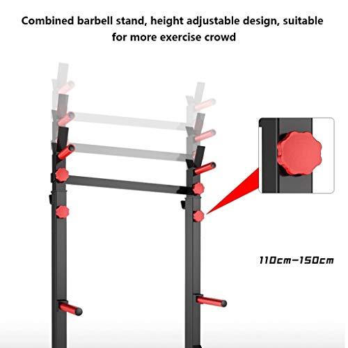 Cages de squat Support À Squat Support Multifonctionnel pour Haltères pour Hommes Étagère De...