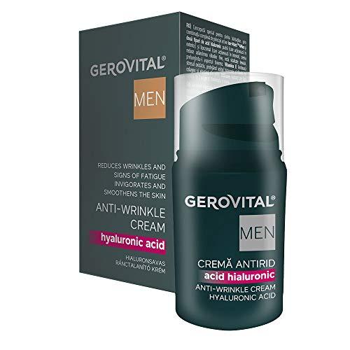 Gerovital Men, Crema Antiarrugas Ácido Hialurónico, Tipo de piel: Para todo tipo de piel, 30 ml