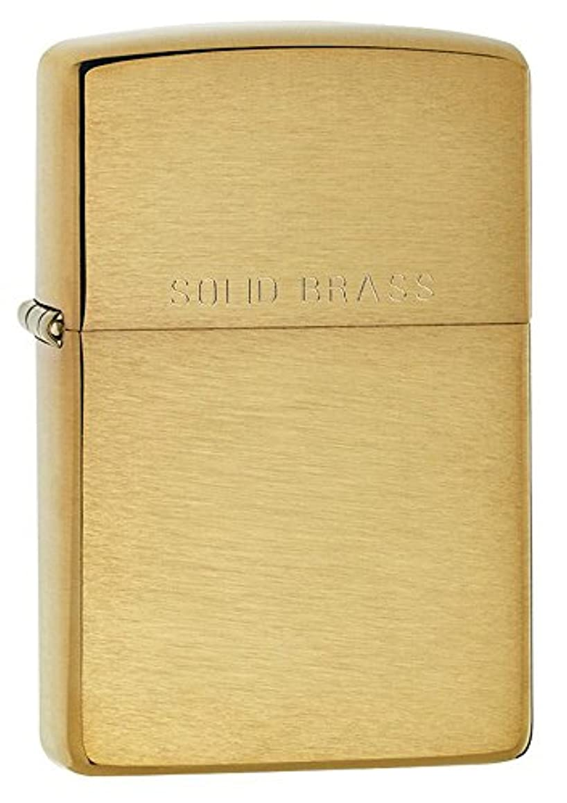 Personalized Message Engraved Customized Basic and Best Styles Zippo Indoor Outdoor Windproof Lighter (Brushed Solid Brass)