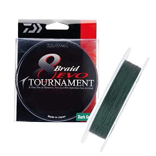 Daiwa Tournament 8 Braid EVO 0.12mm, 8,6kg/18,9lbs 300m dunkelgrün