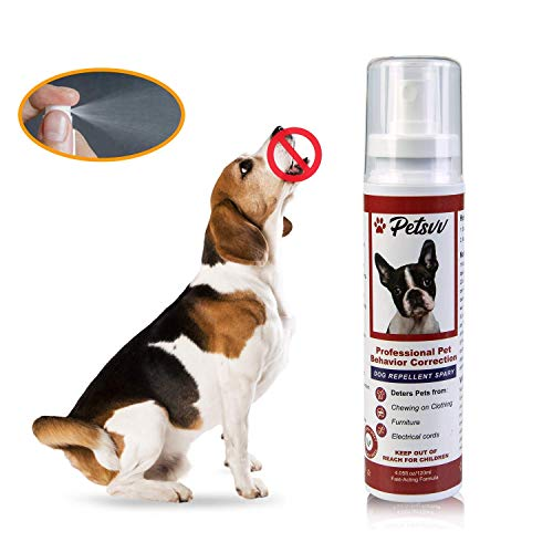 Dog Deterrent Spray - Anti Chew Spray for Dogs, No Chew Spray for Puppies to Stop Chewing Furniture...