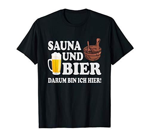 Sauna Wellness Erholung Saunieren Spa Bier lustig Spruch T-Shirt