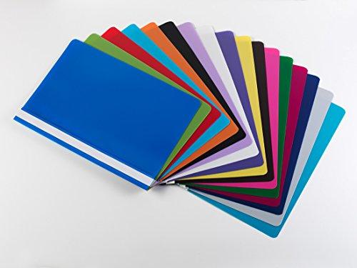 17 Schnellhefter DIN A4 / PP/extra stark / 17 verschiedene Farben