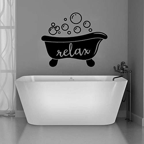 Badkuip Teken Muur Soak Badkamer Relax Creatieve Vinyl Stickers Home Decor Venster Waterdichte Decal Zeep Bubble Muur Kunst 42X50 cm