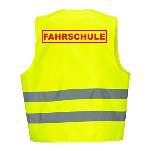 Warnweste GELB Sicherheitsweste Weste Fahrschule (Fahrschule 5er Paket)