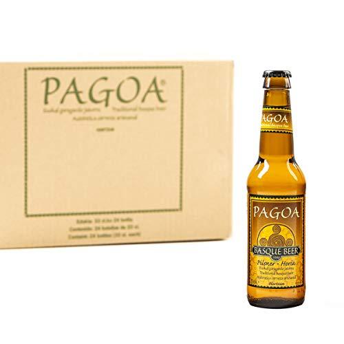 Pagoa - Cerveza Artesana Pilsner Rubia de Baja Fermentación tipo Lager – Pioneros de la Cerveza Artesanal en España desde 1998 - Pack de 24 x 33 cl cervezas para regalar