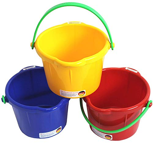 Spielstabil Small Sand Pail - 1.5 Liter - One Pail Included - Colors Vary (Made in Germany)