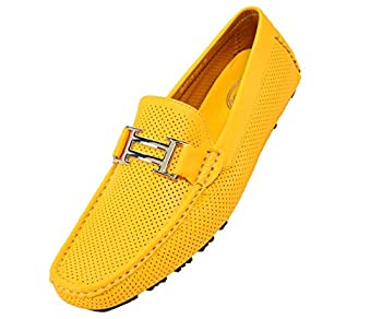 yellow loafers mens