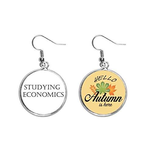Kurze Phrase Studium der Wirtschaftswissenschaften Ohrläppchen Anhänger Herbst Blatt Ohrring Schmuck