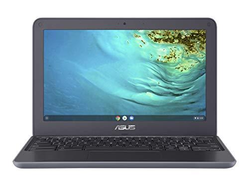 2021 Premium Asus Chromebook 11.6 Inch Laptop with Webcam  MediaTek MT8173C 2.1GHz  4GB RAM  32GB eMMC  Bluetooth  WiFi  USB Type-C  Chrome OS + NexiGo 32GB MicroSD Card Bundle