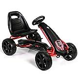 HONEY JOY Go Kart for Kids, 4 Big Wheels Racer Ride On Pedal Car with...