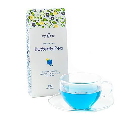【色が変わるお茶】molfon バタフライピー 20包 ティーバッグ  無農薬 バタフライピーティーパック 青いお茶…