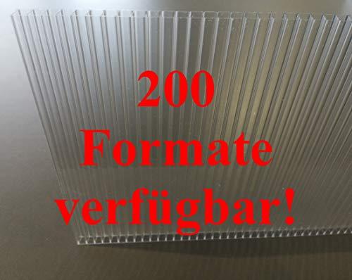 Stegplatten Ersatzplatten für Gewächshaus 6 mm klar farblos UV-geschützt (L x B = 995 x 600 mm)