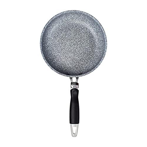 Pote de piedra de alta calidad Pan para freír antiadherente mango suave Plano de utensilios de cocina de aluminio Pan fáciles de cocinar (Color : 26cm)