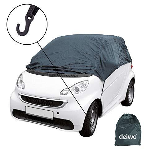 Halbgarage | Größe XS - XL | Winter geeignet | Nylon-, Polyestergewebe | Auto Abdeckung | Der ideale Schutz bei Kälte im Winter (XS)