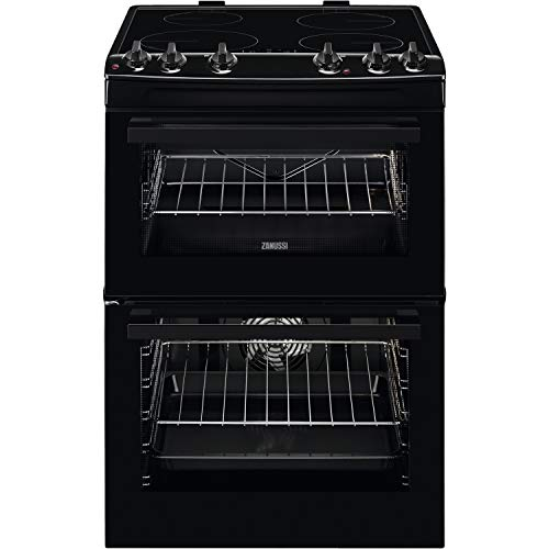 Zanussi 60cm Double Oven Electric Cooker with Induction Hob - Black