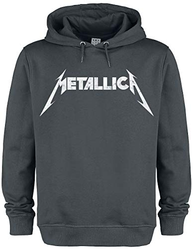 Metallica Amplified Collection - White Logo Männer Kapuzenpullover Charcoal M