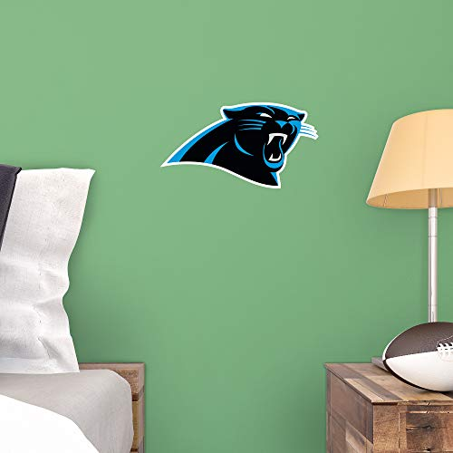 Fathead NFL Carolina Panthers - Logo Teammate- Officially Licensed Removable Wall Decal, Multicolor, Big, Large - 89-00498