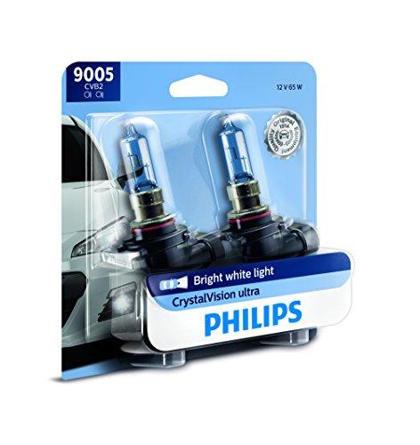 Philips Automotive Lighting 9005 CrystalVision Ultra Upgrade Bright White Headlight Bulb, 2 Pack (9005CVB2)