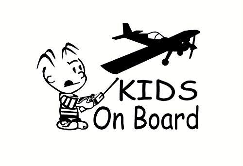 Kinderen aan boord 4 om te kiezen uit Decal Sticker auto Window, Laptop Smooth Surface Decal U Pick 5.5 x 8.5 Eenvoudig aan te brengen en verwijderbaar