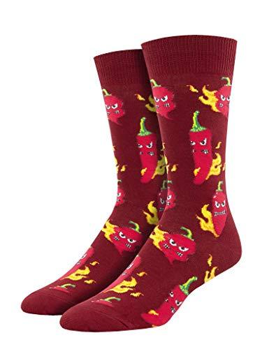 Socksmith Herren Socken Hot Stuff Crew - Rot - Einheitsgröße