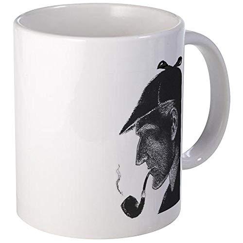 N\A Taza del Perfil de Sherlock Holmes Taza de café única, Taza de café