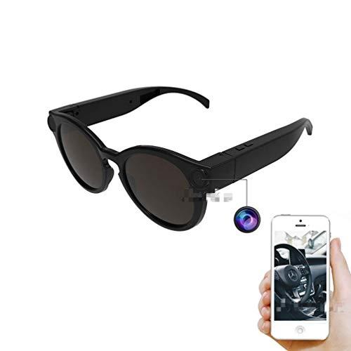 Smart Glasses Telecamera WiFi DVR Videoregistratore Occhiali Azione Impermeabili con Telecamera POV Integrata Full HD 1080P Telecamera Sportiva 155 ° Resistente agli Urti