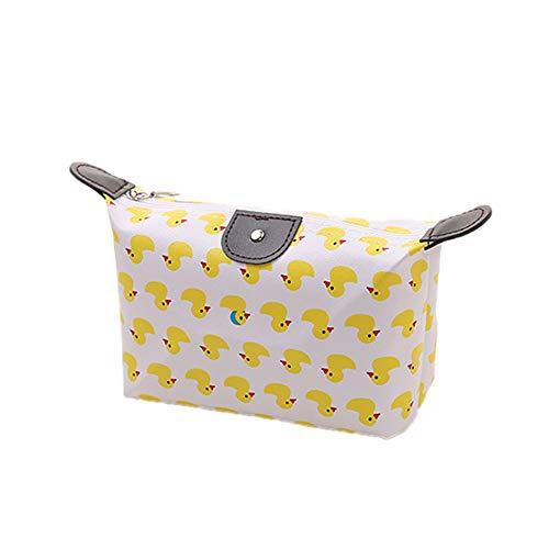 Fliyeong Premium Frauen Make-up Tasche Kleine Kosmetiktasche Cute Print Wash Bag Kulturbeutel Beauty Organizer Ente