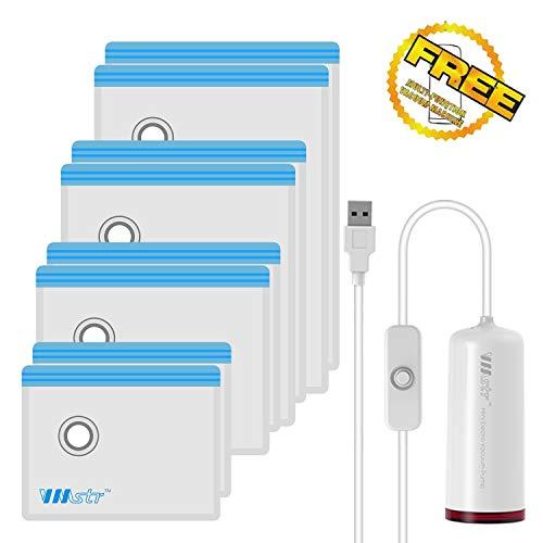 VMstr Vakuum Aufbewahrungsbeutel für die Reise mit USB Elektropumpe, mittelgroße platzsparende Taschen für die Reise (USB Elektrische Pumpe)