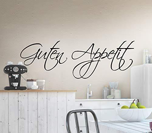 Grandora W519 Wandtattoo Spruch Guten Appetit Küche schwarz 58 x 19 cm