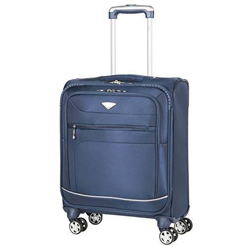 Flight Knight Lightweight 8 Wheel 840D Soft Case Suitcases Maximum Size for Emirates, RyanAir, Vueling, Thomas Cook Cabin & Hold Luggage Options Approved for 78 Airlines Including easyJet, BA & More!