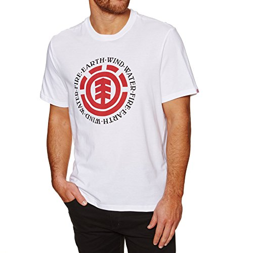 Element Herren Seal SS Shirt Und Hemd, Optic White, M