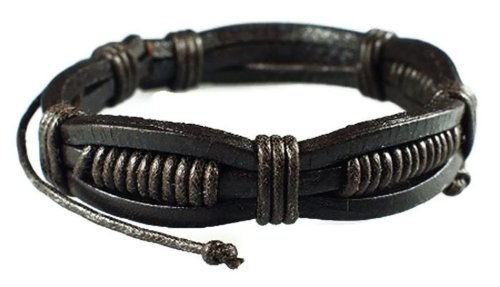Price comparison product image Drak Brown Retro Zen Bracelet / Leather Bracelet / Leather Wristband / Surf Bracelet / Tribal Bracelet / Hemp Bracelet Adjustable Size,  for Men,  Women,  Boys and Girls,  Teen