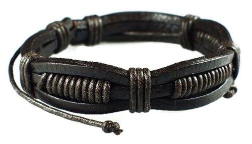 Price comparison product image Drak Brown Retro Zen Bracelet / Leather Bracelet / Leather Wristband / Surf Bracelet / Tribal Bracelet / Hemp Bracelet Adjustable Size,  for Men,  Women,  Boys and Girls,  Teen