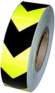 Vehicle Night Reflective Safety Warning Tape Sticker in Green Black Arrow Reflection for Car Truck and Bus