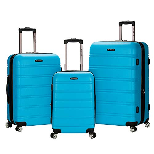 Rockland Melbourne Hardside Expandable Spinner Wheel Luggage, Turquoise, 3-Piece Set (20/24/28)