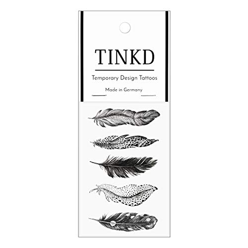 TINKD Fake-Tattoo Feder | Festival-Tattoos Boho Feathers | Made in Germany
