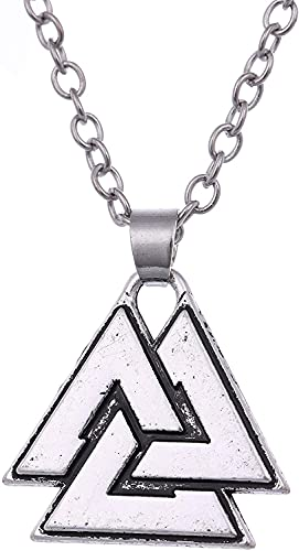 AMOZ Vintage Talismán Nórdico Vikingo Odin 's Símbolo de Guerreros Valknut Colgante Amuleto Collar para Mujeres Hombres