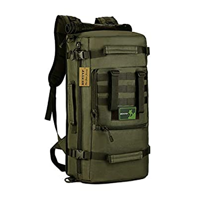 Huntvp 50L 3 Way Tactical Military MOLLE Assault Backpack Modular WR Bag