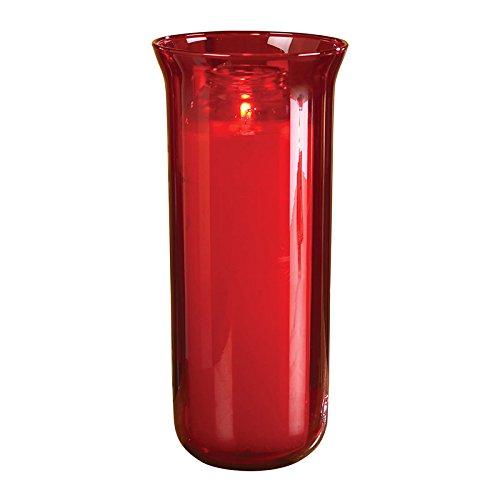 Sanctuary Globe - Ruby Pot Fired Glass 10' H - Christian Brands Church Supply
