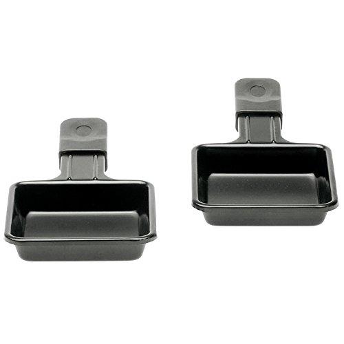 NOUVEL 308996 Raclette-Ersatzpfännchen Metall, Antihaftbeschichtung, 18 x 9 cm, anthrazit, 2-teilig (1 Set)
