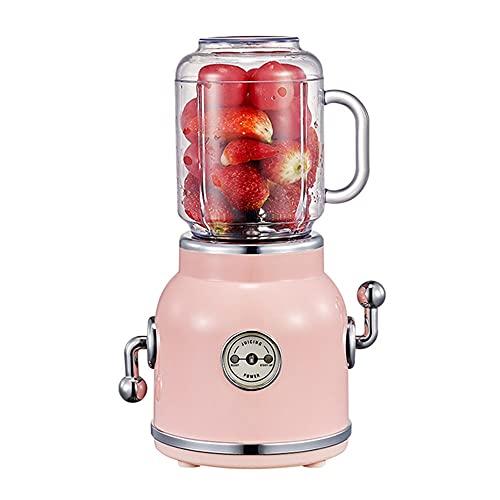 ASKLKD Juicer Electric Multifunction Juice Blender Fruit Vegetables Food Maker with Portable Juice Cup (Color : Pink)