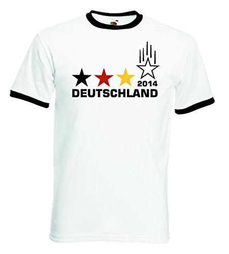 Fruit of the Loom Deutschland Weltmeister 2014 Herren Retro T-Shirt 4 Sterne Trikot|L