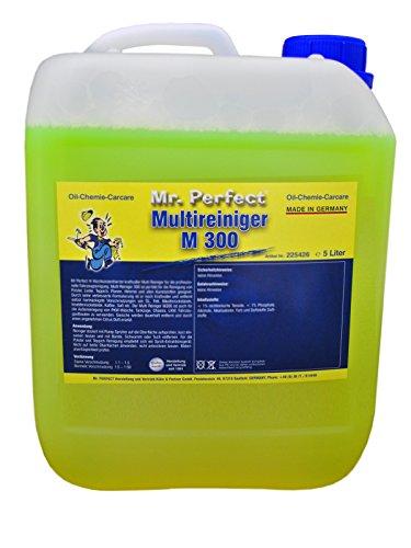 Mr. Perfect® Multi-Limpiador M300, 5 litros - Concentrado de limpieza universal para tapicería, textiles, alfombras, cuero, plásticos, etc.