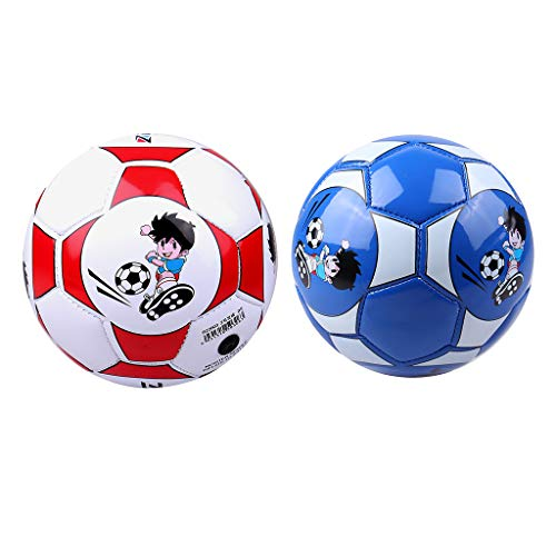 Kloware 2X PU Leather Football Ball Size 2 Soccer Training...