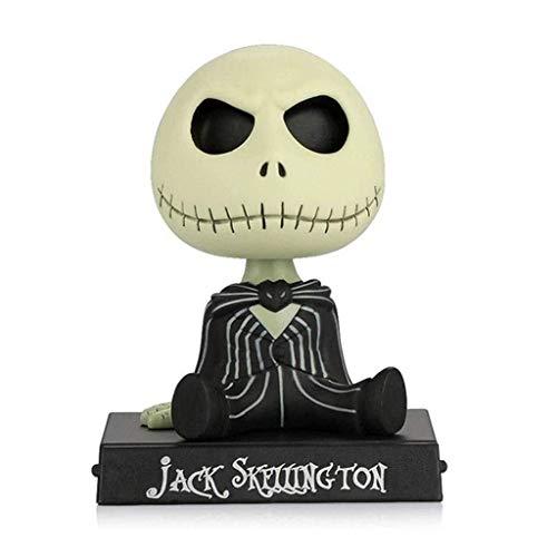 LIFEIYAN Figura De Acción De Coche Adornos De PVC Jack Skeleton Sacudiendo La Cabeza Bobble La Muñeca Salpicadero Interior Adorna Los Accesorios El Extraño Mundo De Jack Jack Juguetes accesorios del c