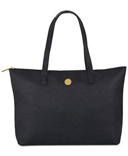 small Joyman Mano Leather Shopping Bag Black