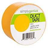 Simply Genius (Single Roll) Patterned Duct Tape Roll Craft Supplies for Kids Adults Colored Duct Tape Colors, Yellow