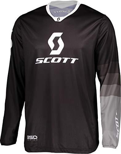Scott 350 Track MX Motocross Jersey/DH Fahrrad Trikot schwarz/grau 2020: Größe: L (50/52)